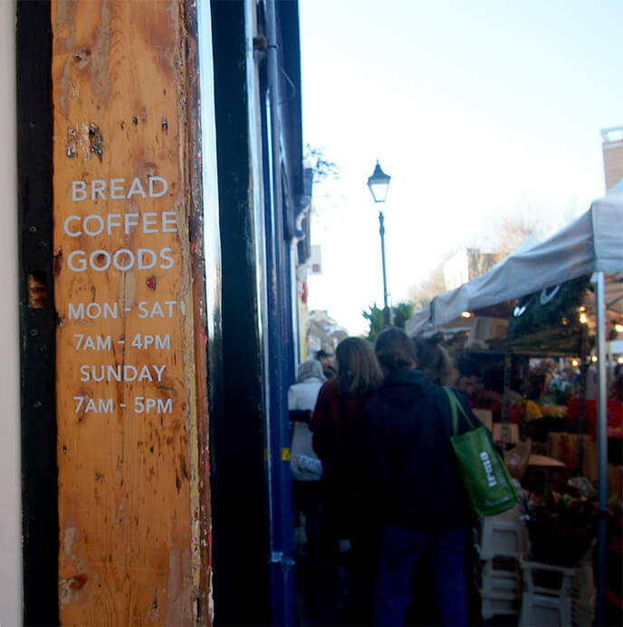 Tiendas de Columbia Road Pavilion Bakery puerta
