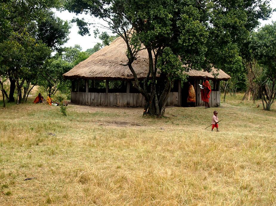 Foto de una cabaña de los masais