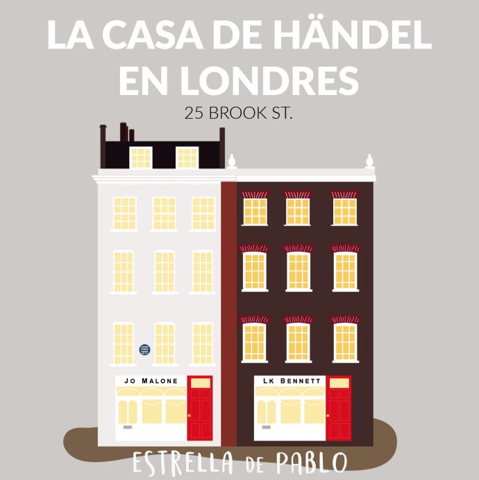 Dibujo Casa Handel en Londres