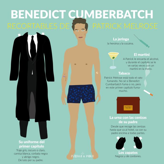 Dibujo Benedict Cumberbatch en PAtrick Melrose 2