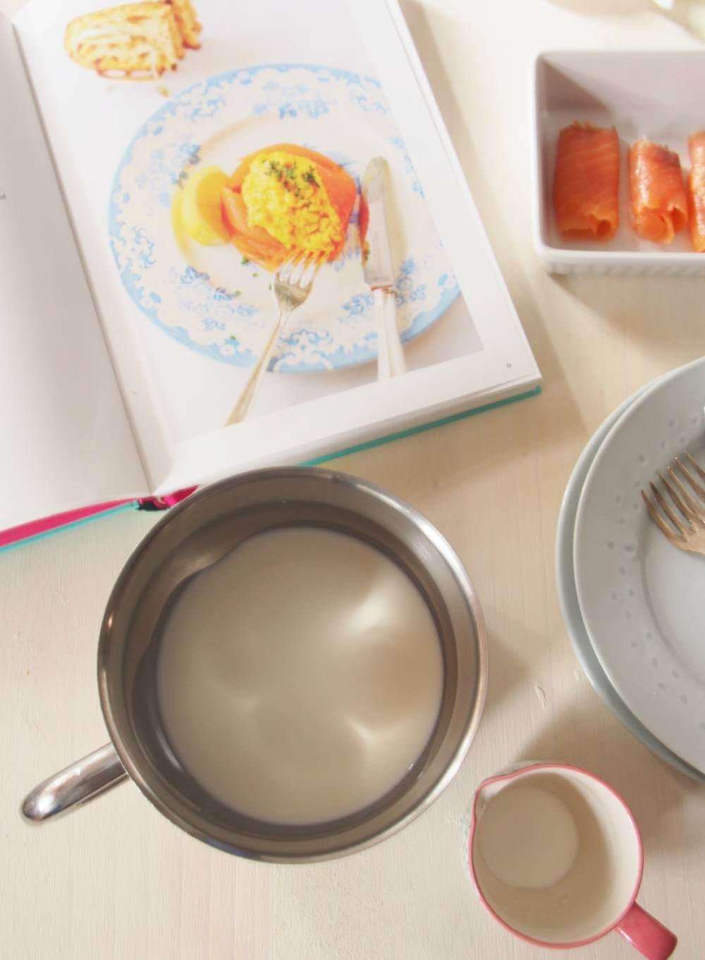 La nata preparada en el cazo