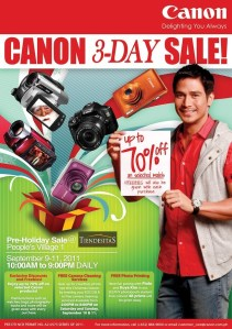 """Canon joins the """"Sale"""" Bandwagon!"""