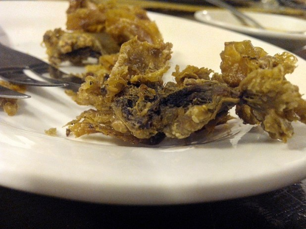 Omega HD captured the details of the Chicharon Bulaklak pretty well despite the lighting condition.
