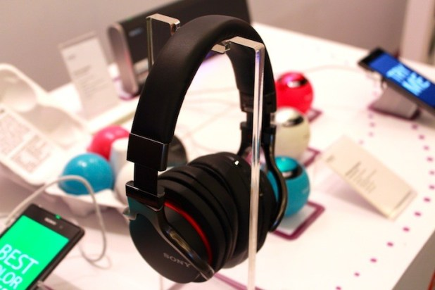 Sony NFC activated wireless headphones and speakers.