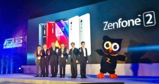 Jerry Shen (ASUS CEO) together with his marketing and regional team poses with Zenny on the stage during the ZF2 launch in the PH