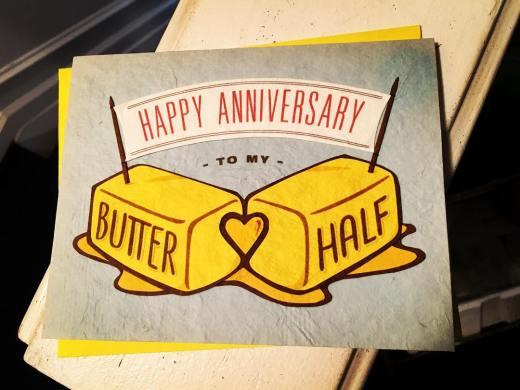 Happy Anniversary jstone13zero ! His card had bacon and eggshellip