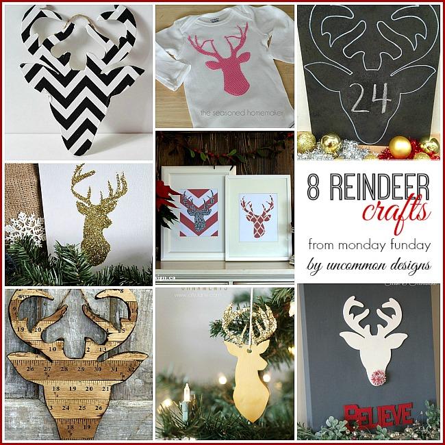 8 Reindeer Crafts from #mondayfunday #christmascrafts #reindeer #deerheadprojects