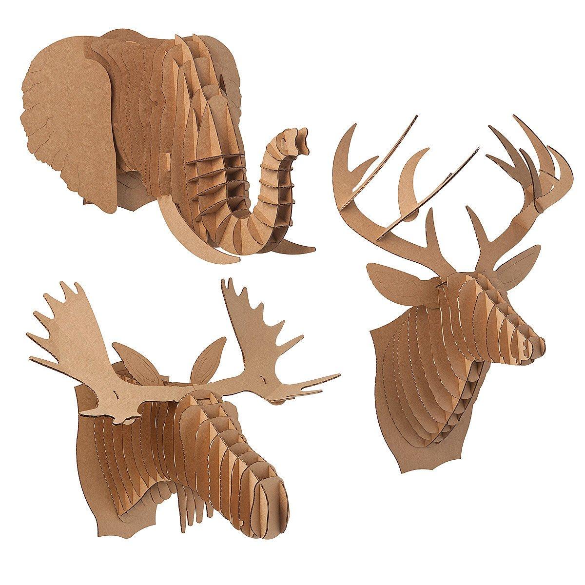 Calmly Cardboard Animal Heads Thumbnail Cardboard Animal Heads Paper Elephant Uncommongoods Cardboard Deer Head Template Cardboard Deer Head Typo houzz-02 Cardboard Deer Head