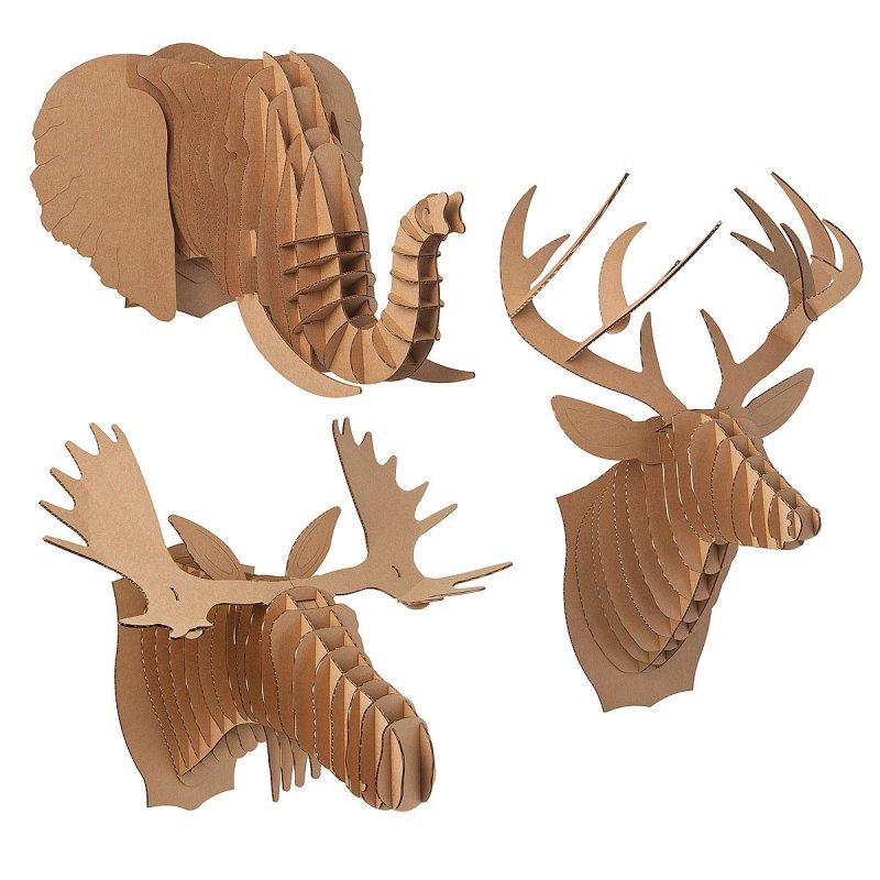 Large Of Cardboard Deer Head