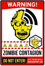 Zombie Area Contagion Sticker Warning