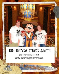 DIY Disney Cruise Shirts with Heat Transfer Vinyl