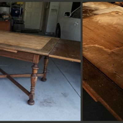 Patience and A New/Old Table