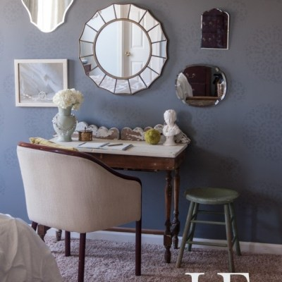 Master Bedroom Makeover:  Wall of Mirrors