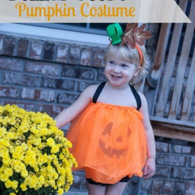 DIY Dollar Store Pumpkin Costume