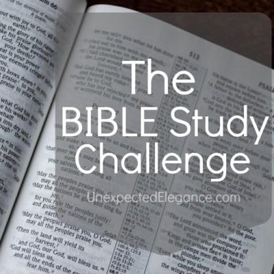 The Bible Study Challenge