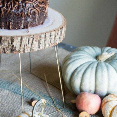 Upcycled Lamp Shades   Cake Stand