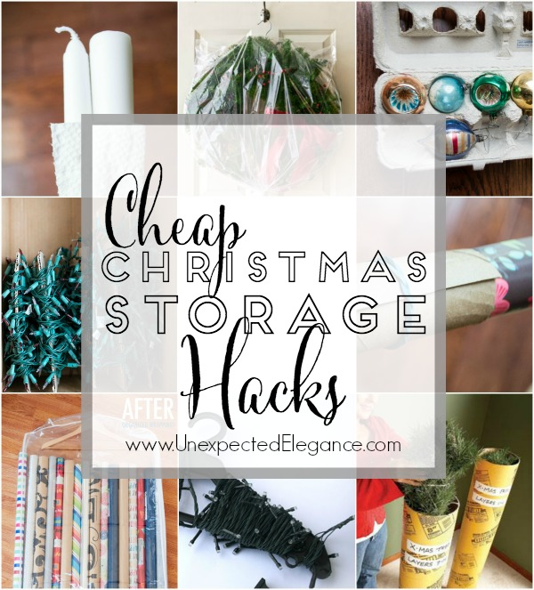After the expense of Christmas, who wants to spend more money on the storage of all the decorations? It's so much easier if you take the time to store everything nice and neat but you don't have to spend a fortune. There are many items in your house that can be repurposed and other items that can be bought on the cheap. Here are a few CHEAP CHRISTMAS STORAGE HACKS to help save you money and time next year!