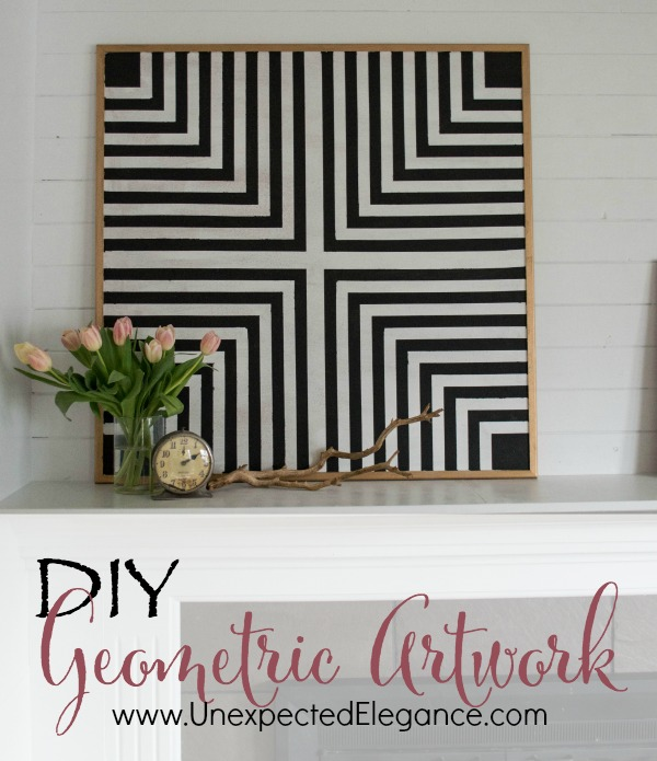 Need some inexpensive artwork that can function as a bulletin board?  Get a full tutorial for making your own DIY geometric artwork!