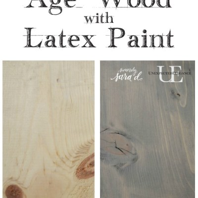 How to Achieve a Weathered Look using Latex Paint