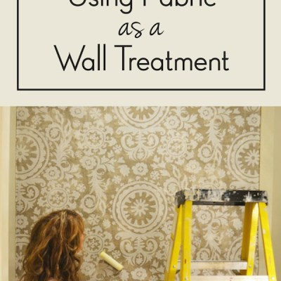 Starched Fabric Wall Treatment Tutorial {Video Series}