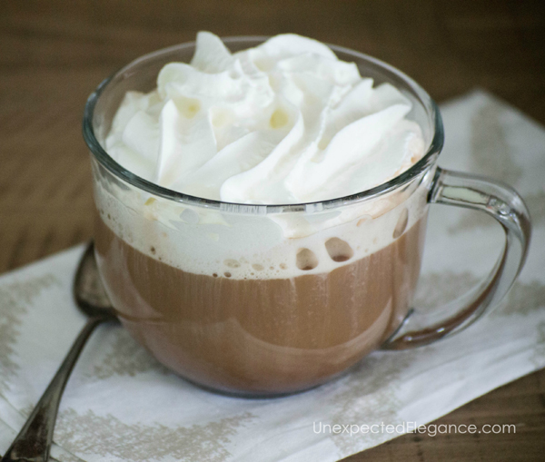 Get some inspiration for a fun flavored coffee bar, with full recipes for 3 different beverages. This bar will be a huge hit for your family and friends!