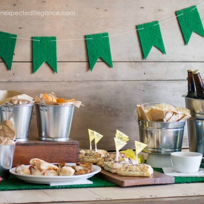 EASY Super Bowl Party Decor Ideas