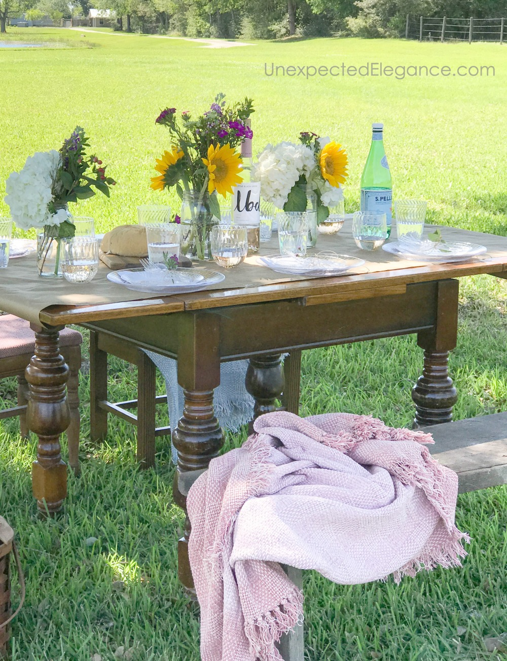 Outdoor spring dinner party