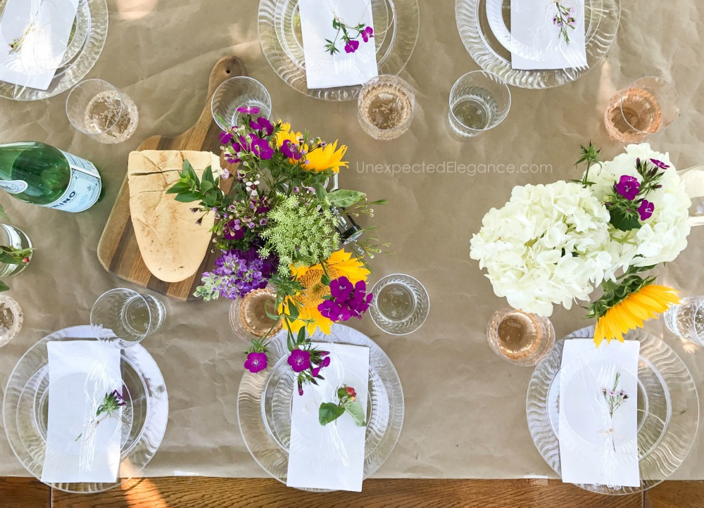 Get tips for hosting an outdoor dinner party