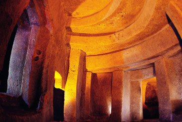 One of the inner chambers at the Hypogeum