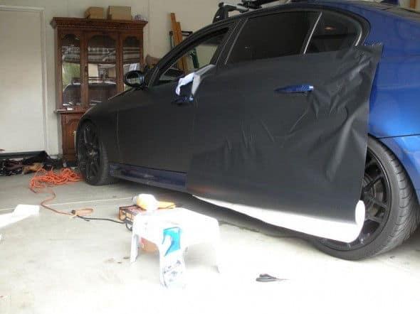 BMW 3 Series Flat Black