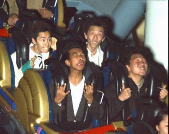 Funny Asian Guys on Roller Coaster