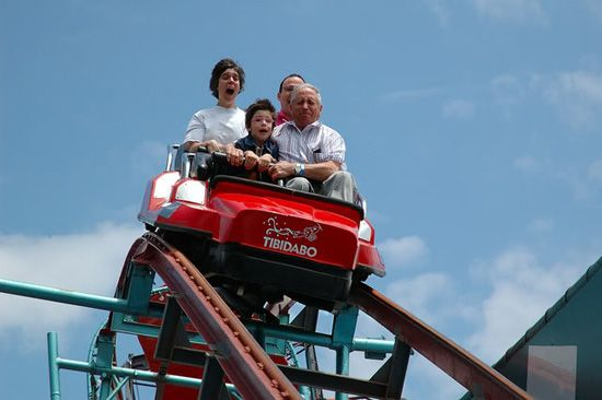 Grand Dad On Roller Coaster