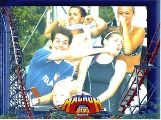 Punch Girlfriend On Roller Coaster