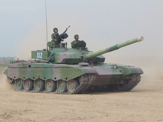 Type 99 Battle Tank In The Desert