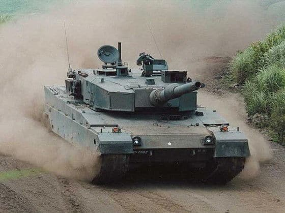 Type 90 Tank cruising at high speed