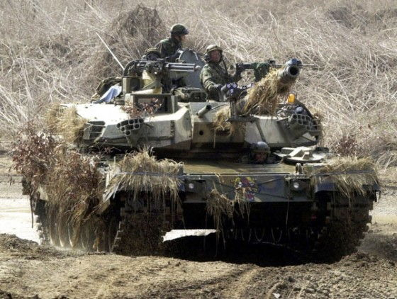 South Korean K2 Black Panther Tank in Camo