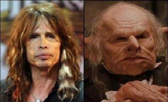 Creepy Aerosmith lookalike