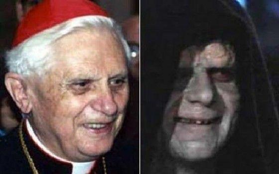 Creepy Pope lookalike