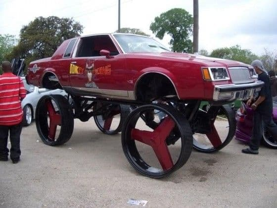 Donk car on 30 inch wheels