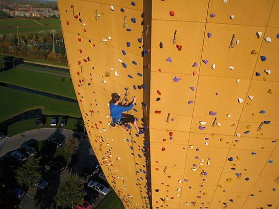 Excalibur world's tallest climbing wall