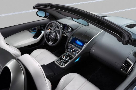 2013 Jaguar F-Type interior