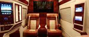 Super Luxurious: Lexani Tuned Mercedes Sprinter Van with a Room