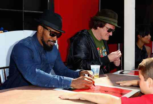 """Django Unchained"" Old West Town At Comic-Con stetson cowboy hats"