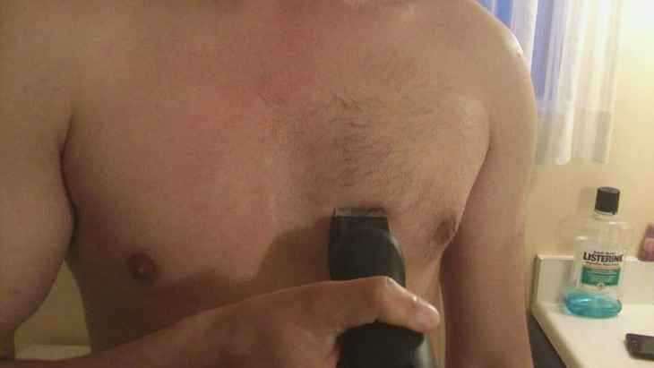 Trimming chest hair