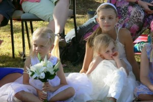 Flower girls - Maya and Talia (with Jessica)