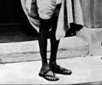 gandhi feet