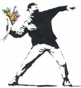 banksy flower-thrower