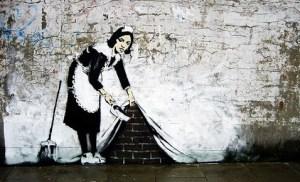 banksy sweeping