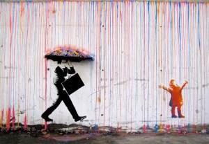 banksy umbrella