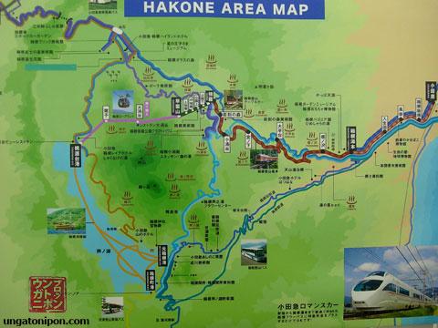 Mapa Hakone